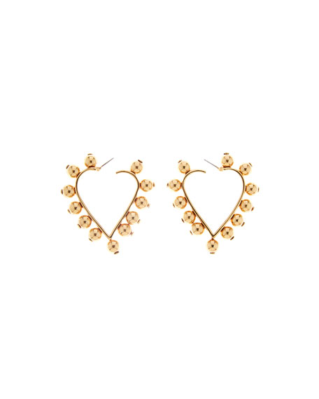 Studded Heart Earrings