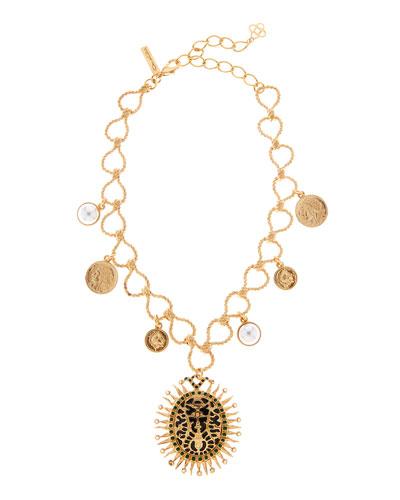 Decorative Medallion Necklace