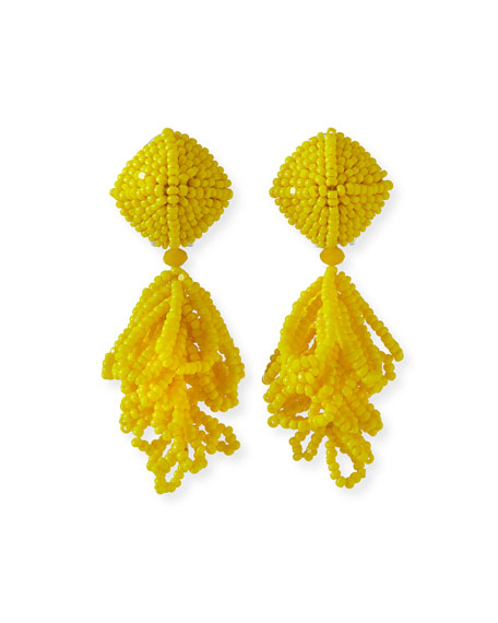 Image 1 of 1: Mini Lulu Seed Bead Clip-On Earrings