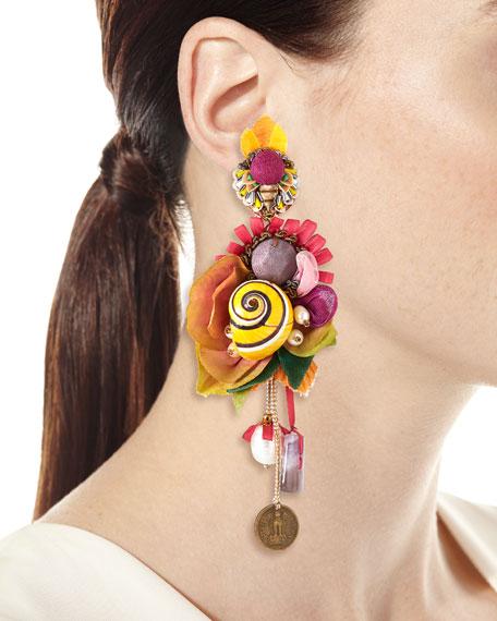 Serenity Shell Clip-On Earrings