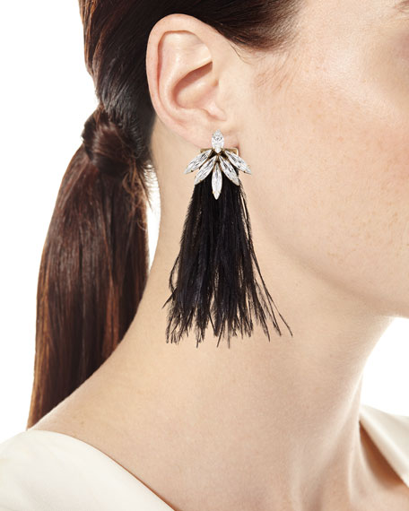 Avery Feather Drop Earrings