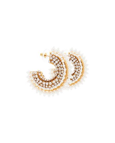 Mini Fiona Pearly Hoop Earrings