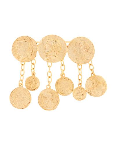 Runaway Coin Brooch