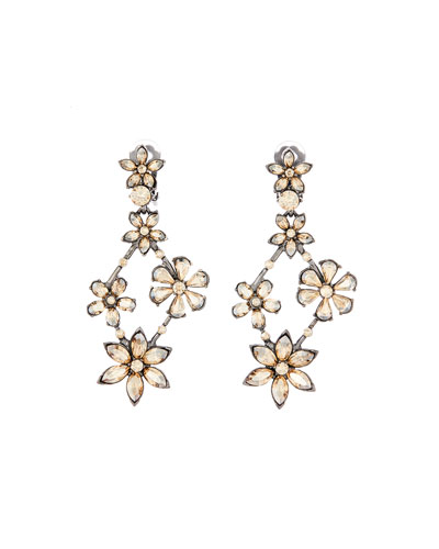 Crystal Star Chandelier Earrings
