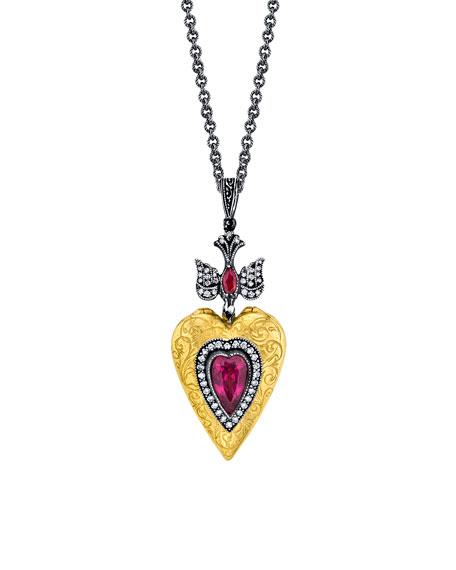 Pink Tourmaline Love Locket Necklace