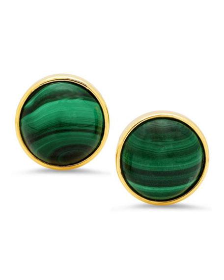 18k Malachite Stud Earrings