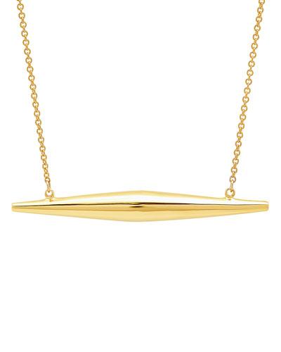 14k Yellow Gold Mini Torpedo Necklace