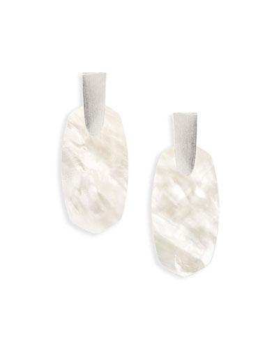 Aragon Statement Drop Earrings  Rhodium-Plate