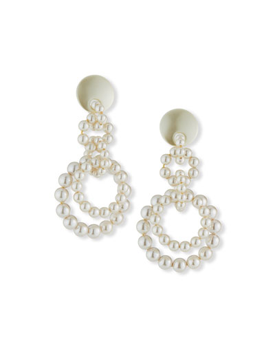 Pearly Loop-de-Loop Earrings