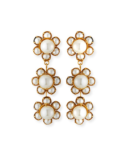Constance 3-Flower Earrings