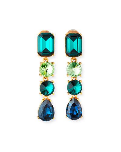 Classic Crystal Large Drop Earrings