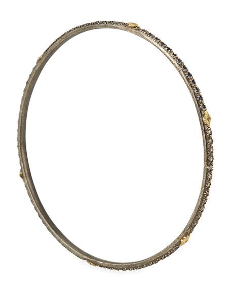 Old World Lapis/Diamond Bangle Bracelet, Size M