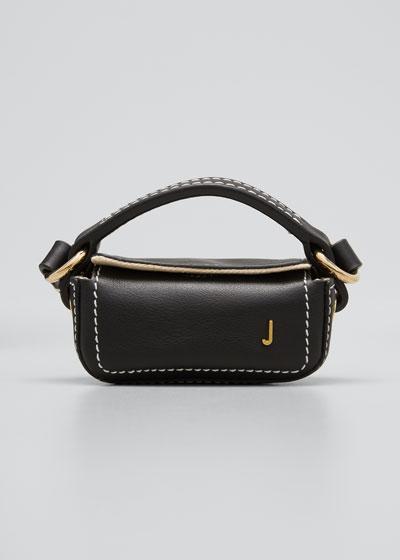 Le Nani Mini Charm Crossbody Bag, Black