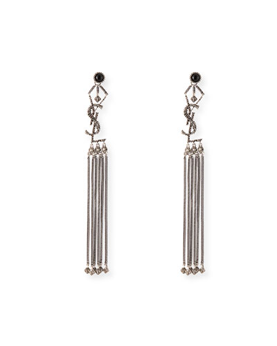 Long YSL Tassel Earrings