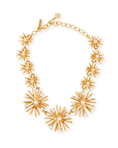 Classic Pearly Starburst Necklace
