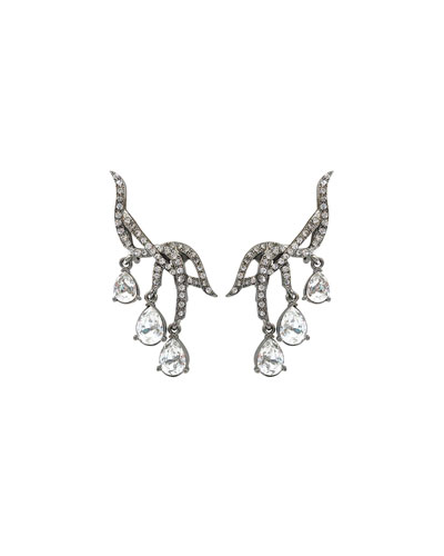 Classic Falling Crystal Earrings