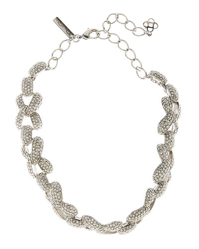 Pave Chain-Link Necklace