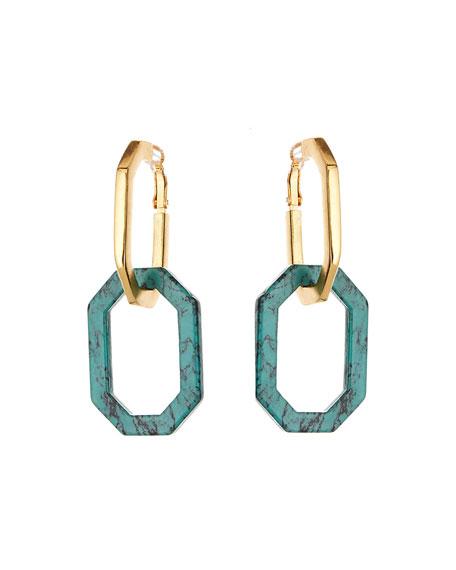 Octagonal Link Earrings