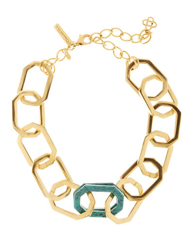 Octagonal Link Necklace