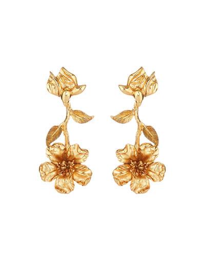 Leafy Clip Earrings