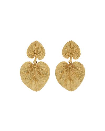 Eucalyptus Leaf Clip Earrings