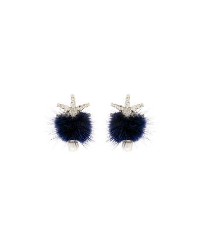 Fields Pompom Mink Fur Earrings