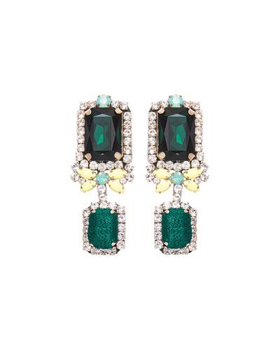 Isabelle Drop Earrings  Green