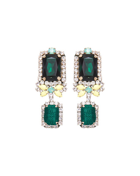Isabelle Drop Earrings, Green