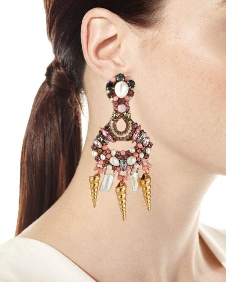Shell-Shaker Clip Earrings