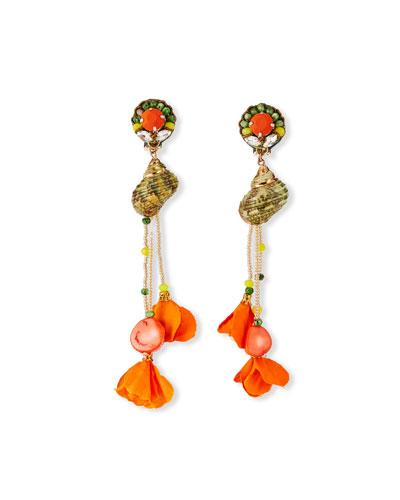 Balsam Shell-Dangle Earrings
