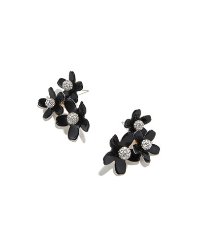 Poppy Bouquet Earrings  Jet Black