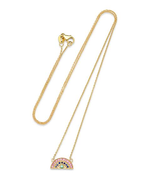 14k Mini Rainbow Pave Necklace by Andrea Fohrman