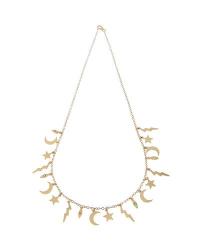 14k Multi-Element Necklace