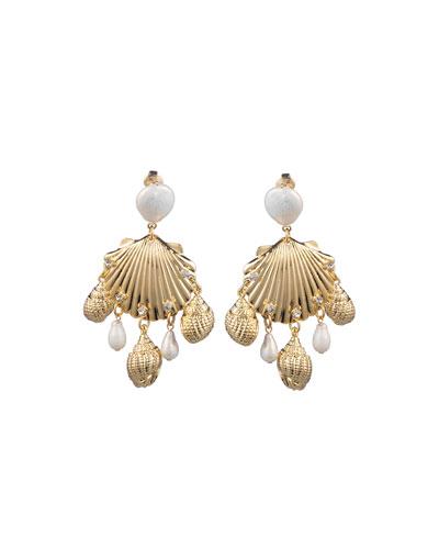 Lauren Sea Shell Clip-On Earrings