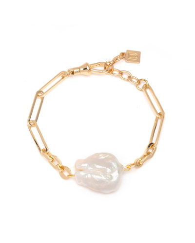 Helena 1-Pearl Chain Bracelet