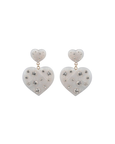 Amante Heart-Drop Earrings