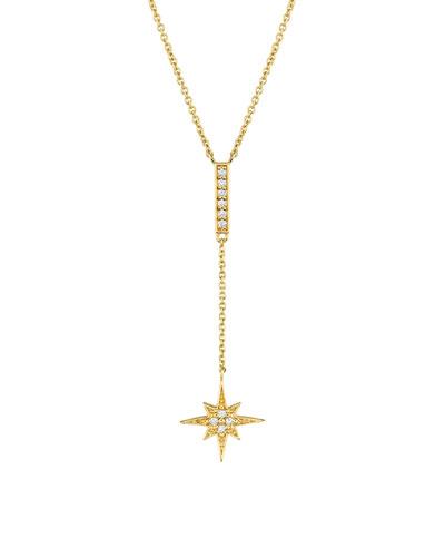 14k Diamond Starburst Y-Drop Necklace