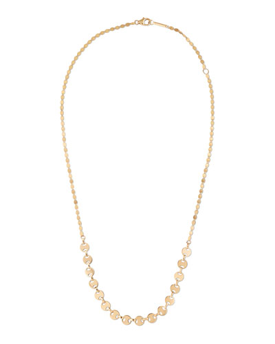 14k Small Flatman Nude Necklace