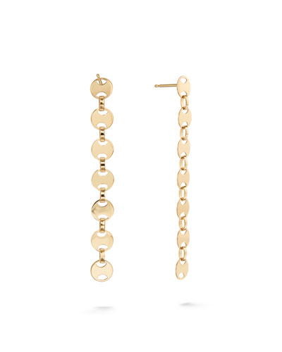14k Small Linear Flatman Earrings