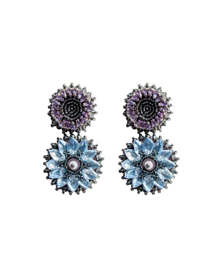 Image 1 of 1: Mini Molly Drop Earrings, Light Gray