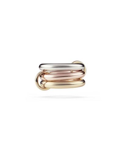 18k Bicolor 3-Link Ring