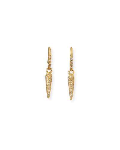 Sueno 18k Diamond Spike Drop Earrings