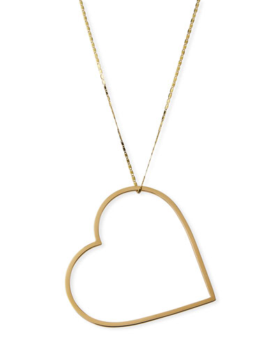 14k Mega Heart Pendant Necklace