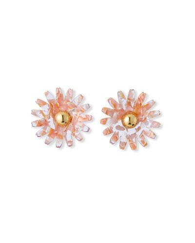 Daisy Button Stud Earrings