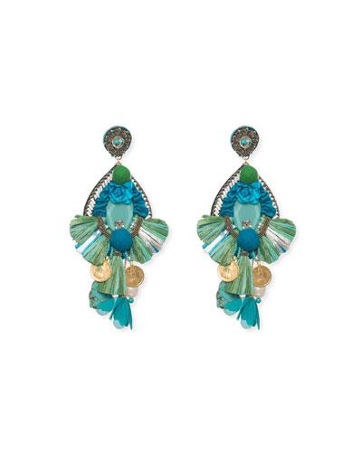 Bluejay Clip-On Statement Earrings
