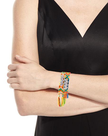 Pull-Cord Friendship Bracelets, Set of 2, Rainbow