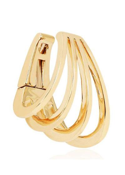 14k Gold Caged Ear Cuff  Single  Left