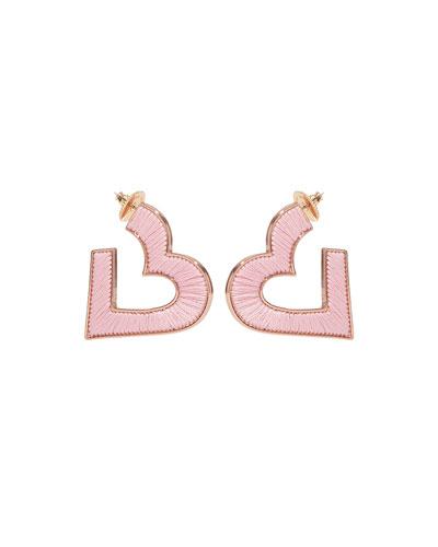 Fiona Heart Hoop Earrings