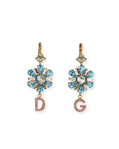 Crystal Flower DG Earrings