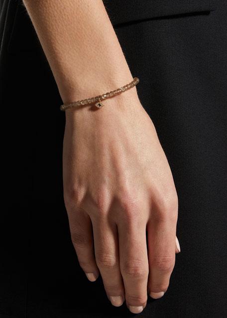 14k Quartz and Diamond Evil Eye Bracelet